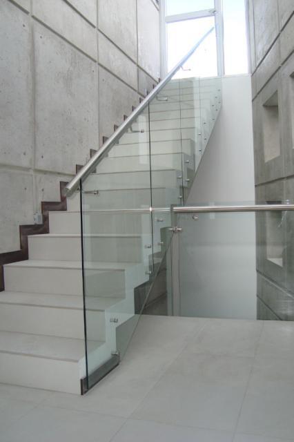 Pasamano vidrio templado metalmachine for Pasamanos para ducha