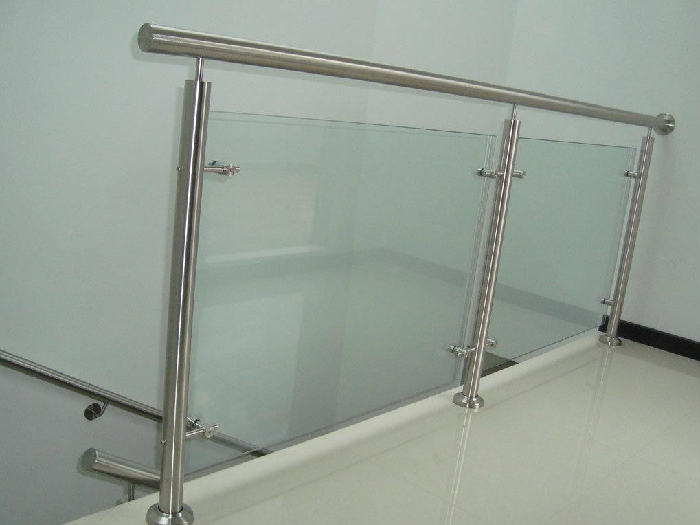 Pasamanos de vidrio y punto fijo metalmachine - Pasamanos de cristal ...
