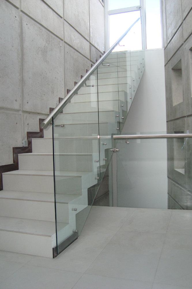 Pasamano vidrio templado metalmachine - Pasamanos de cristal ...